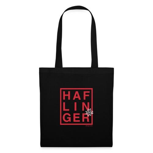 Haflinger Schriftzug / Pferd - Stoffbeutel