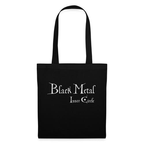 Black Metal Inner Circle, white - Tote Bag