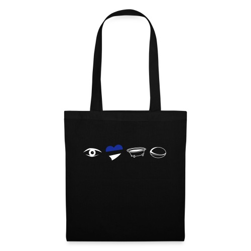 Eye Heart Bath Rugby - Tote Bag