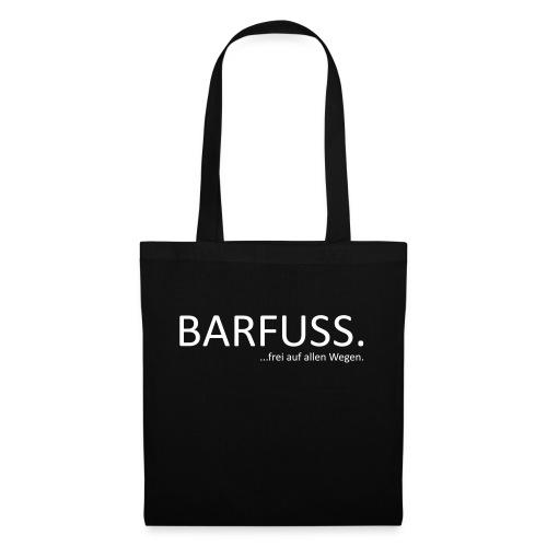 Barfuss_frei_Weiß_Trans - Stoffbeutel