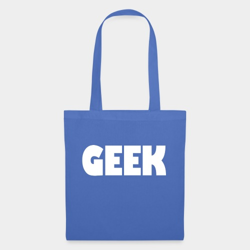 GEEK Text Logo White - Tote Bag