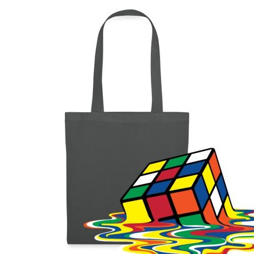 Rubik's Cube Melted Colourful Puddle - Tygväska