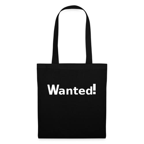 Wanted. weiß - Stoffbeutel
