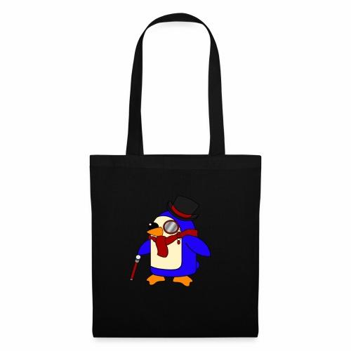 Cute Posh Crimson Red Penguin - Tote Bag