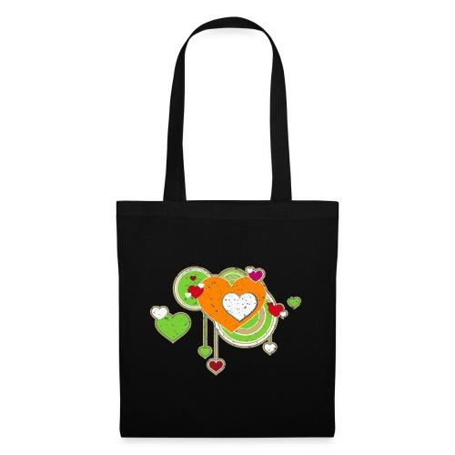 Liebe love Herzen hearts retro grunge Valentinstag - Tote Bag