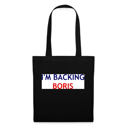 Backing Boris - Boxer Shirts - Tote Bag