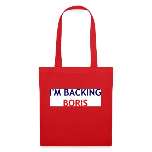 Backing Boris - Boxer Shirts - Tote Bag