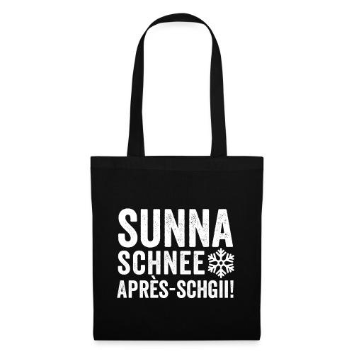 SUNNA, SCHNEE, APRÈS-SCHGII - Stoffbeutel