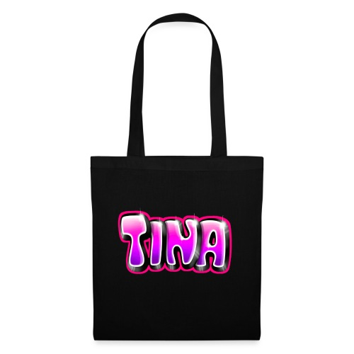 GRAFFITI TAG TINA PRINTABLE ON EVERYTHING PINK - Tote Bag