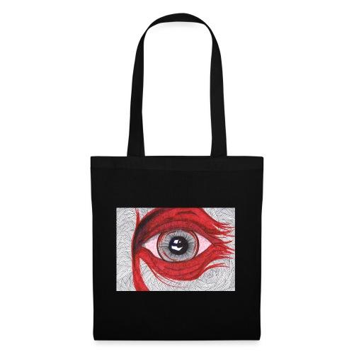 Auge - hypnotischer Blick - Stoffbeutel