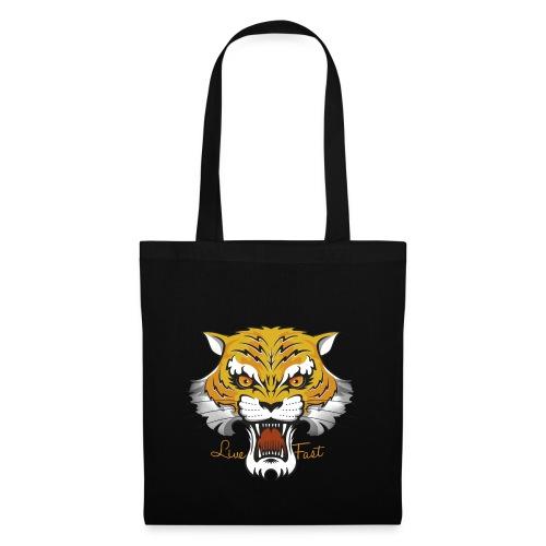 Tiger - Live Fast - Stoffbeutel