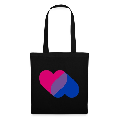 Bisexual Double Heart - Tote Bag