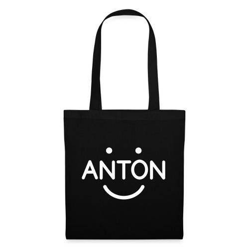 ANTON Smile-Logo weiß auf versch. Farben - Stoffbeutel