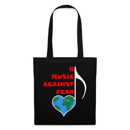 #MusicAgainstFear - Weiß - Stoffbeutel