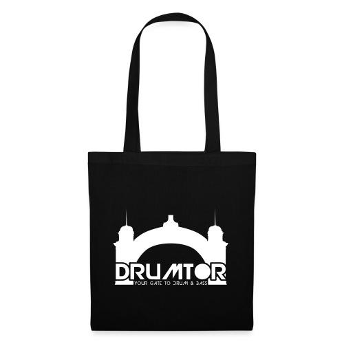 drumtor logo frei bw - Stoffbeutel