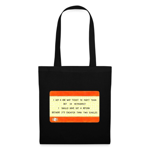 Party Town Ticket - Tote Bag