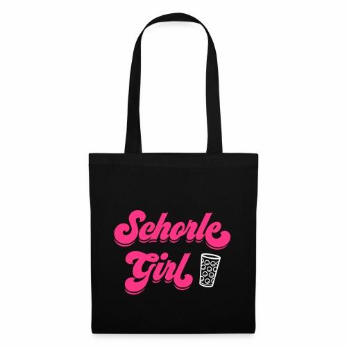 Schorle Girl und Dubbeglas - Stoffbeutel