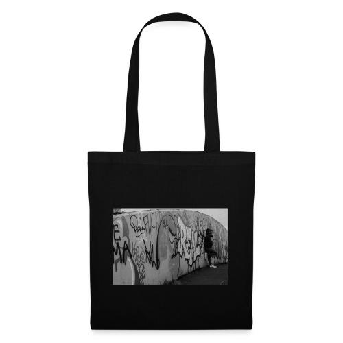 Real - Black and White graffiti bridge - Tote Bag