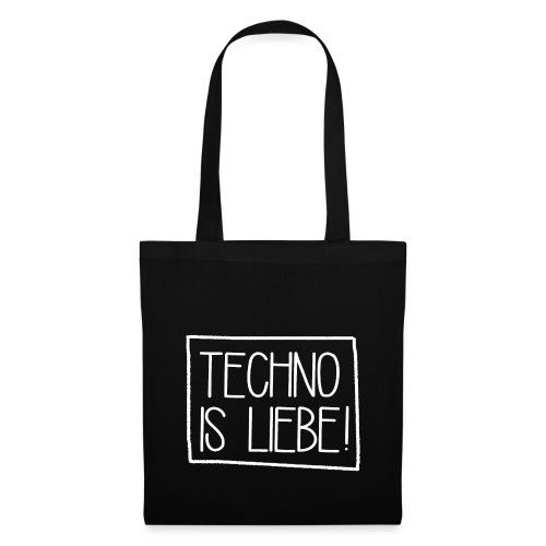 TechnoisliebeSquare png - Stoffbeutel