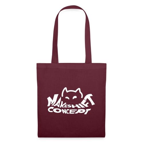 Makeshift Concept Cat Logo Weiß - Stoffbeutel