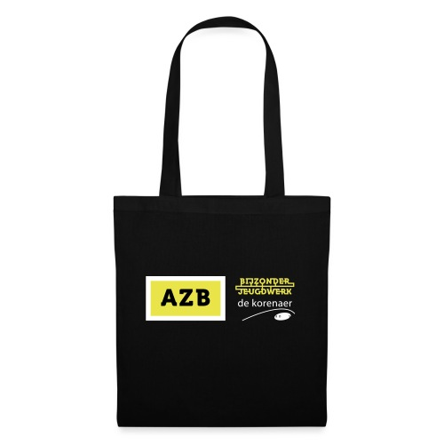 AZB Shirt Zwart Wit geel - Tas van stof