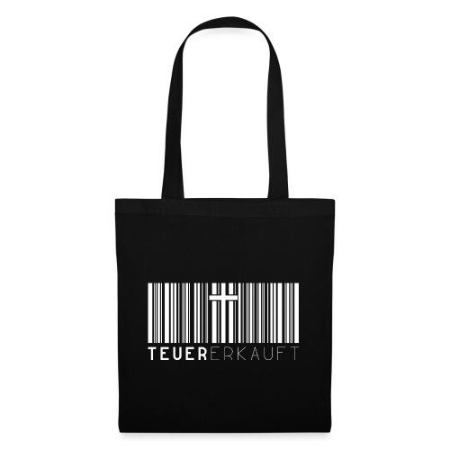 Teuer Erkauft Barcode Jesus Kreuz - Christlich - Stoffbeutel