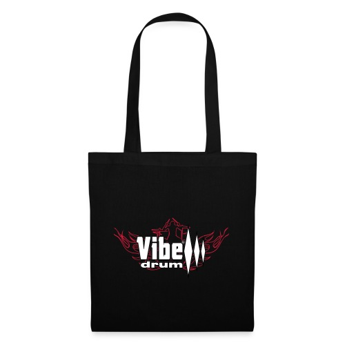 Vibe_Drum_Logo_Flames - Borsa di stoffa
