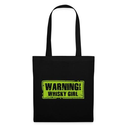 Warning – Whisky Girl - Stoffbeutel