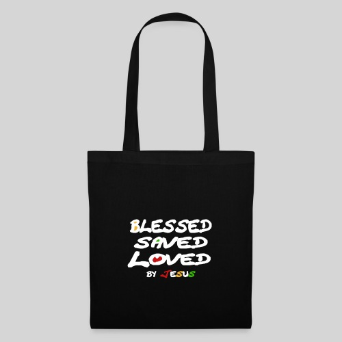 Blessed Saved Loved by Jesus - Stoffbeutel