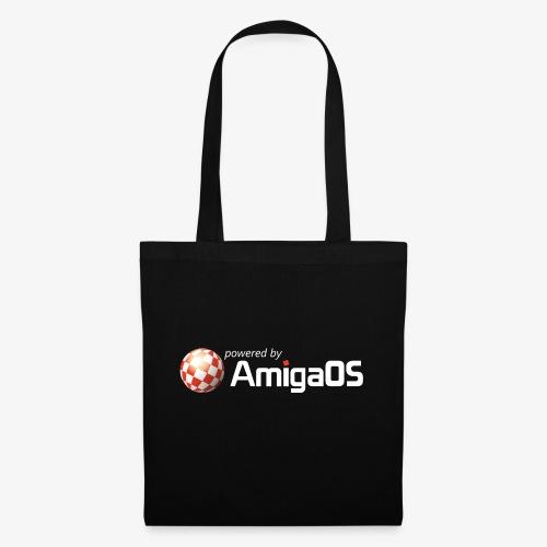 PoweredByAmigaOS white - Tote Bag
