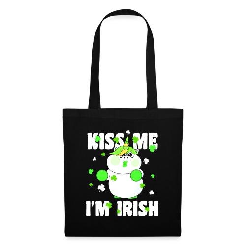 Kiss me I'm Irish Unicorn Einhorn - Stoffbeutel