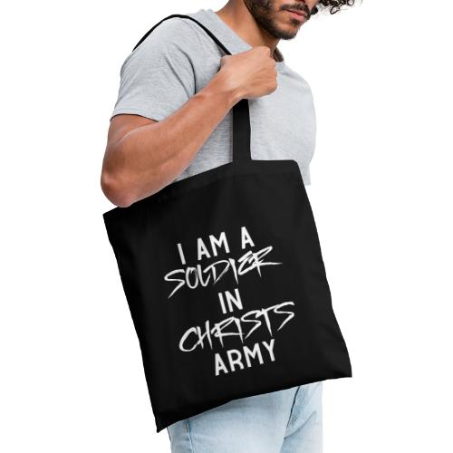 I am a soldier in Jesus Christs army - Stoffbeutel