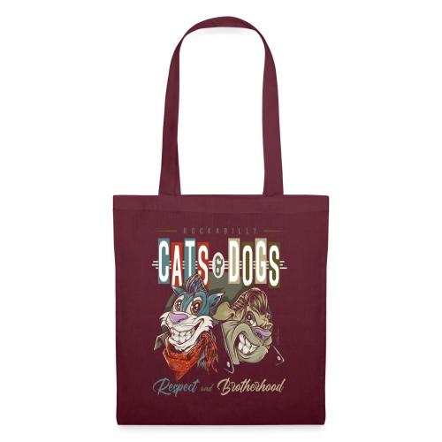 Gatos y perros - Bolsa de tela