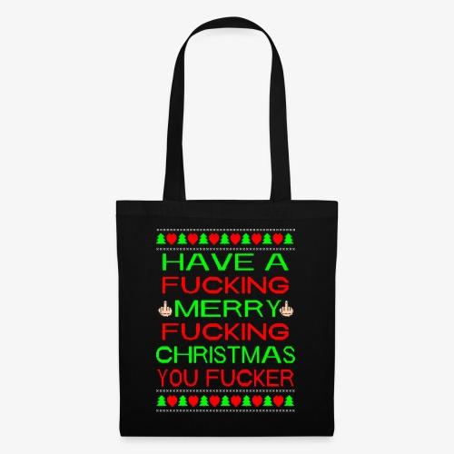 Merry Fucking Christmas Ugly Christmas Sweater - Stoffbeutel