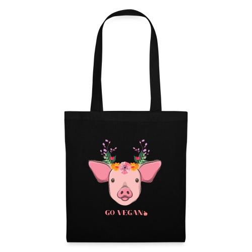 Flower pig - Stoffbeutel