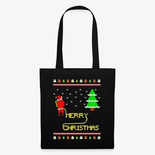 Merry Christmas Ugly Xmas Lustig Pinkelnder Santa - Stoffbeutel