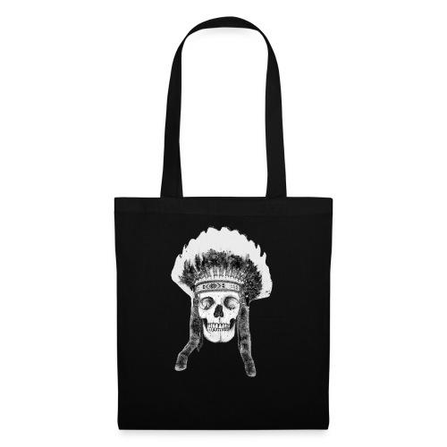 skull indian headdress - Tas van stof