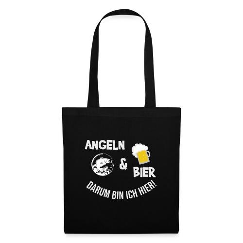Angeln Bier Fischer Angler Sportfischer Angelfan - Stoffbeutel