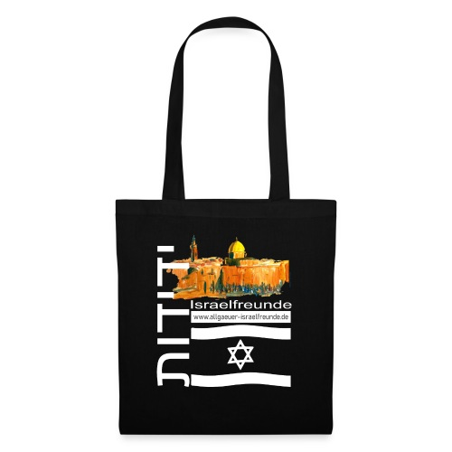 Allgäuer Israelfreunde Freundschaft Israel-weiß - Stoffbeutel