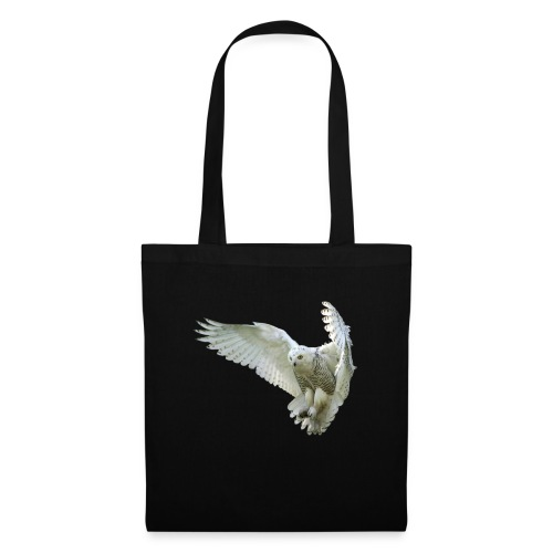Majestic Snowy Owl in flight - Tote Bag