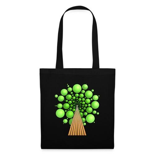 Kugel-Baum, 3d, hellgrün - Stoffbeutel