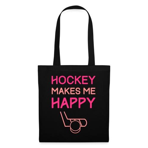Hockey Makes Me Happy - Tote Bag