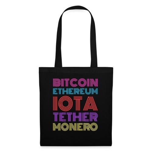 Retro Crypto | Bitcoin, Ethereum, IOTA, Tether - Stoffbeutel