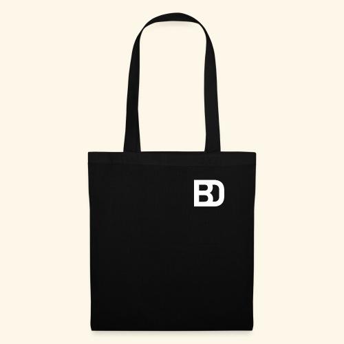 Black Damn Logo White Transparent - Stoffbeutel