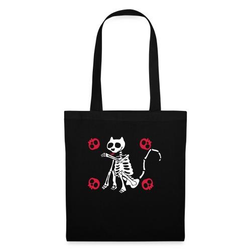 Katzen Skelett - Stoffbeutel
