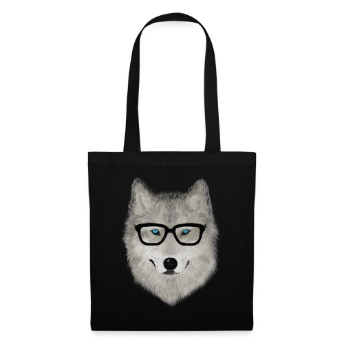 wild animal with glasses V02 - Bolsa de tela