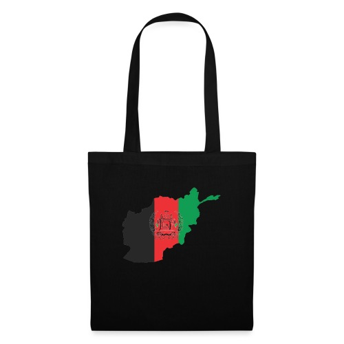 Afghanistan Flag in its Map Shape - Tote Bag