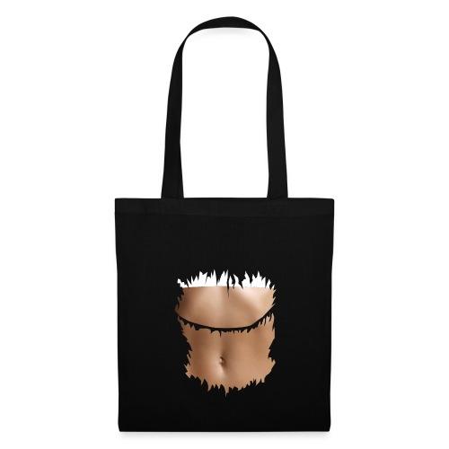 t shirt ventre plat brassiere blanche - Tote Bag