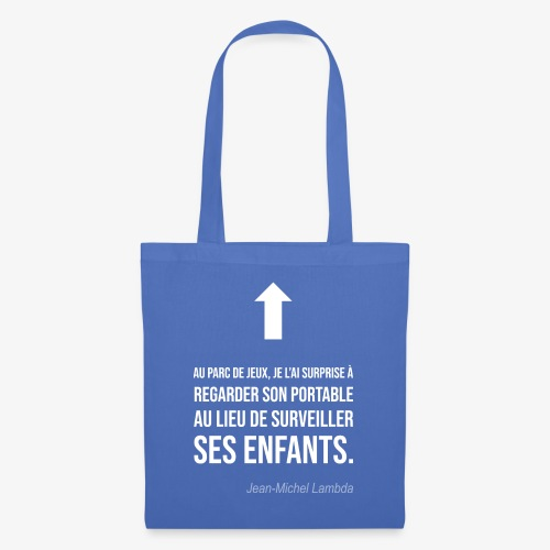 Elle regarde son portable - Tote Bag