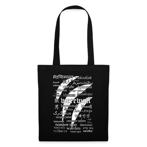 Werewolf in 33 Languages (Black Ver.) - Tote Bag